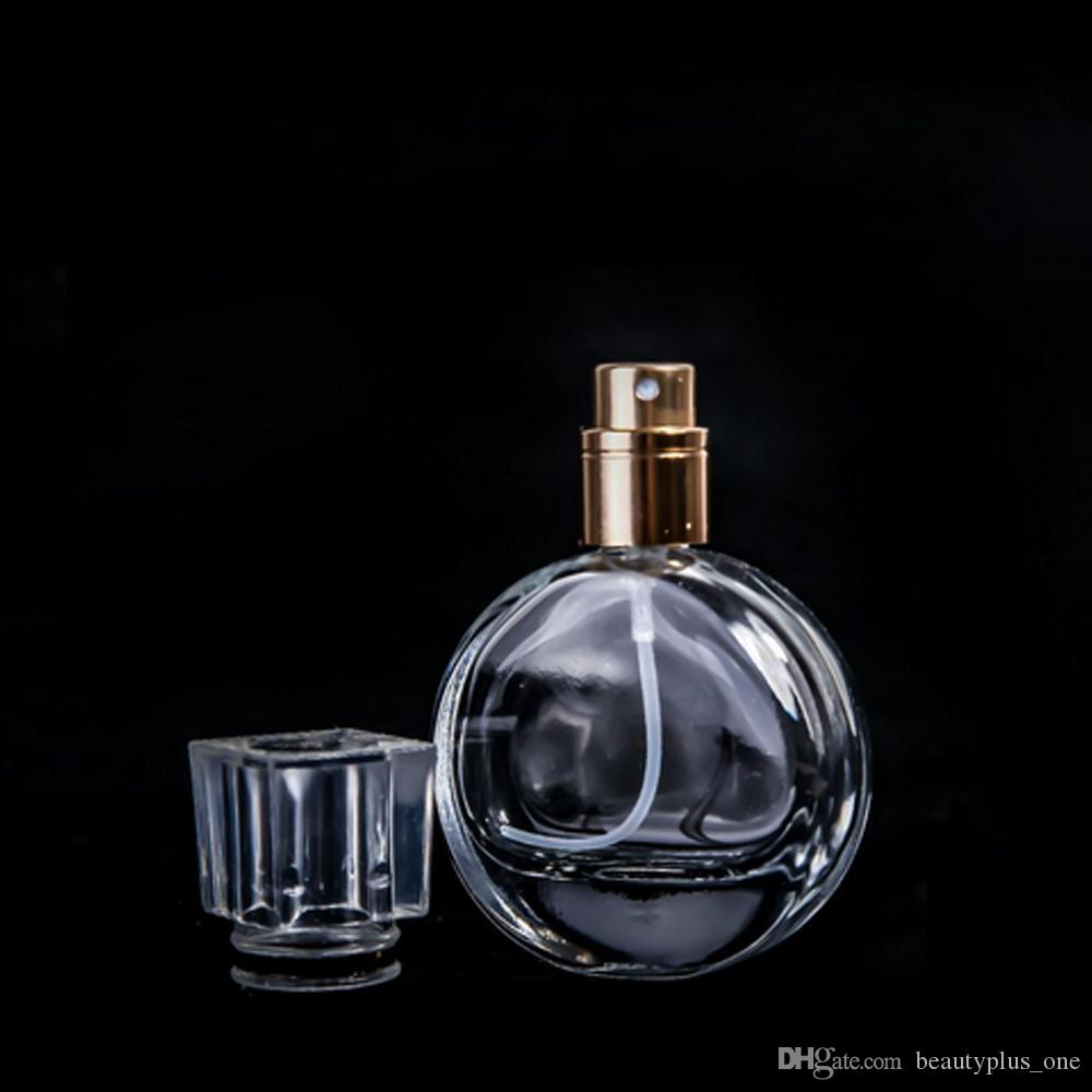 Wholesale 25ml Glass Perfume Spray Bottles Portable Transparent Spray Bottls Refillable Perfume Liquid Atomizer Cosmetic Container
