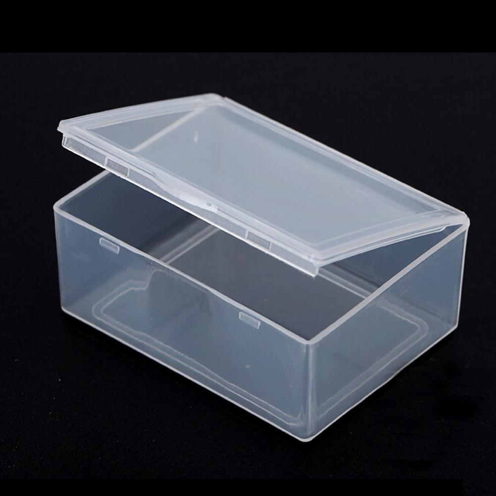Neue 5 Teile / los Shop Durchsichtigen Kunststoff Transparent Mit Deckel Aufbewahrungsbox Sammlung Münze Schmuck Container Fall Großhandel