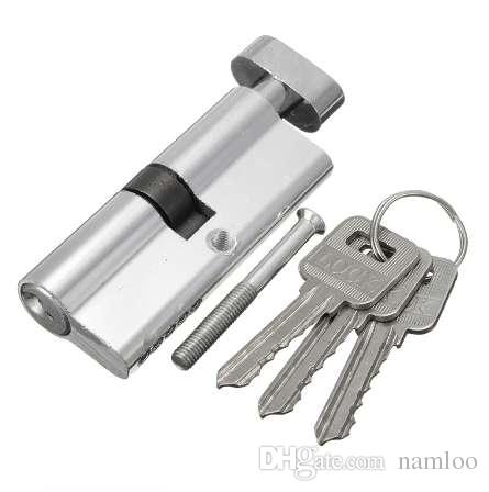 Door Lock Copper Locking Security Core Door Cylinder with 3 keys door lock Cylinder for interior doors