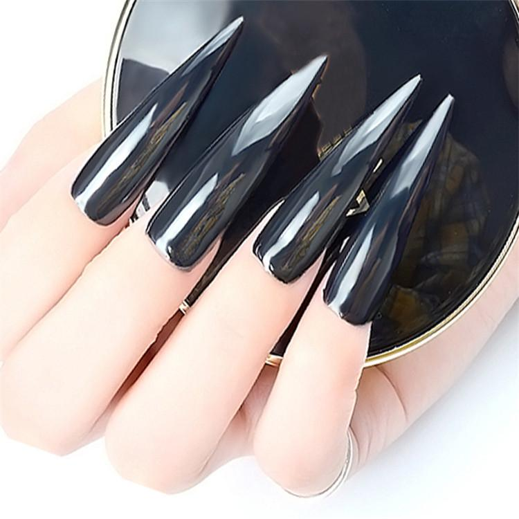 Compre 1 Caja De Efecto Espejo Mágico Deslumbrante Negro Nail Glitter Powder Super Brillante Cromo Pigmento Polvo Diminuto Diy Nail Art Decoraciones A