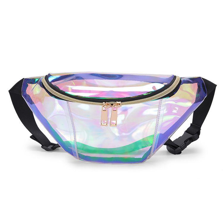 2018 Fashion New Men Laser Marsupio Cintura in pelle Impermeabile Telefono borsa da donna Thighbags Fanny Pack Holographic Leg Bag