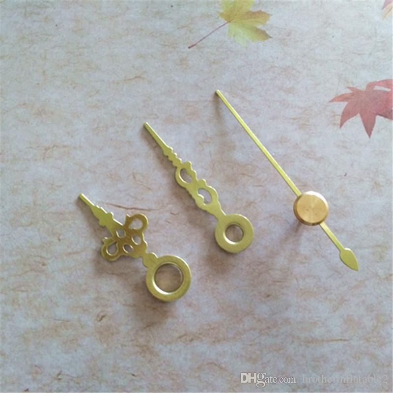 Venta al por mayor 50 unids Manos de oro cortas de metal para el mecanismo de reloj de cuarzo accesorios de reparación de los kits de bricolaje
