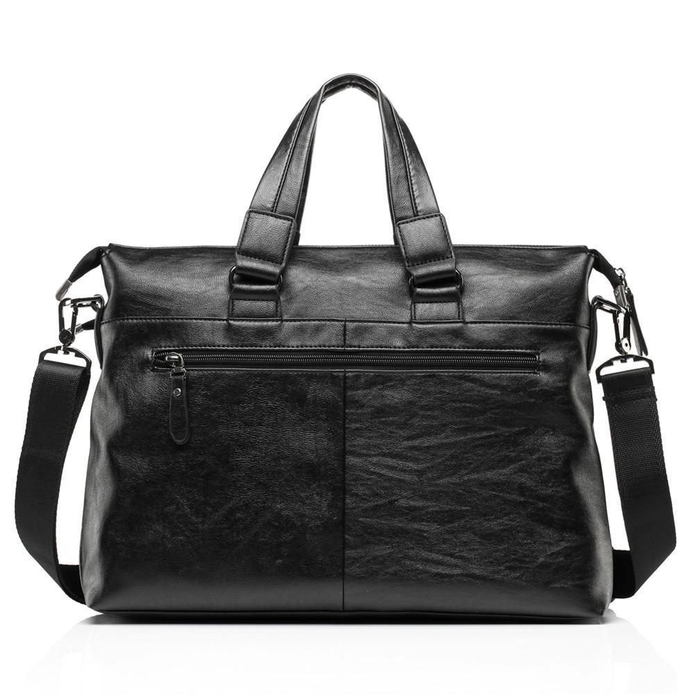 "New Fashion male soft leather commercial briefcase/Brand design men's messenger bag/casual Business bag 14"" Laptop bags for men"