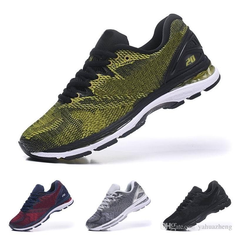 Nuevo Gel Nimbus 20 zapatillas de deporte de calidad superior negro gris blanco para hombres zapatillas de deporte de descuento EE. UU. 40.5-45