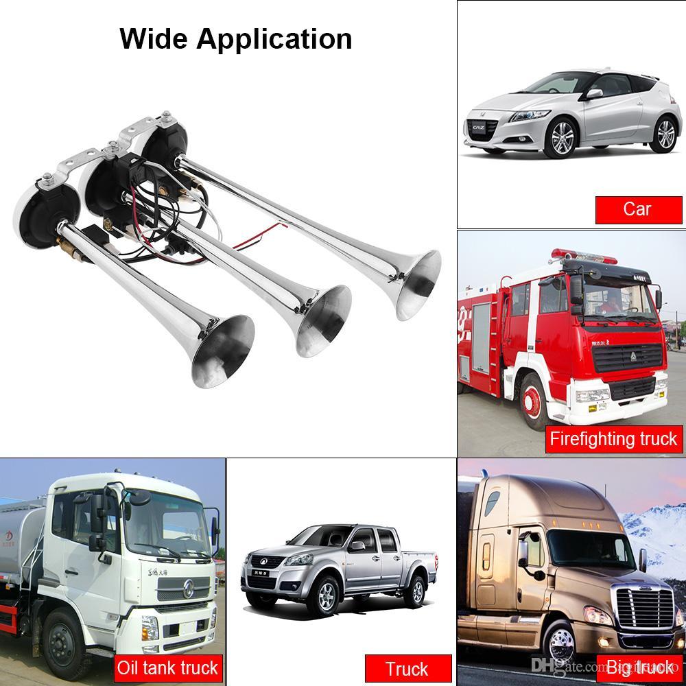 balikha 12v 24v Train De Camion Klaxon /à Air /électrovanne /électrique Robuste 1//4Chrome