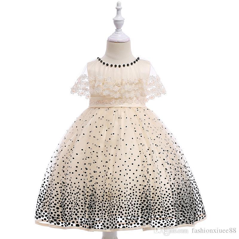 Vestidos de niña de flores Vestidos de primera comunión Gorro Mangas Vestidos para niñas Vestidos cortos para bebés Princesita
