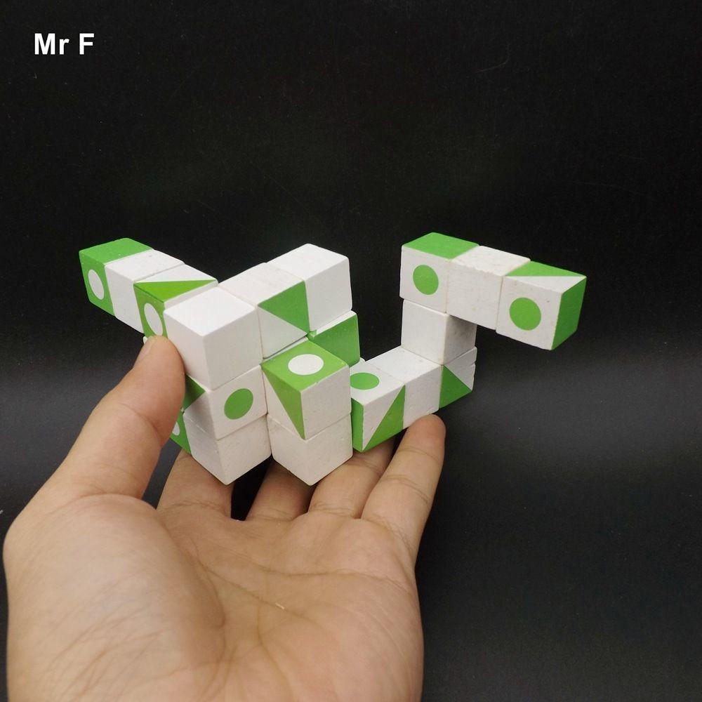 Divertido Jogo de Inteligência De Madeira Jogo 3D Madeira QI Enigma Cérebro Teaser Cubo Ensino Prop Gadget Educacional