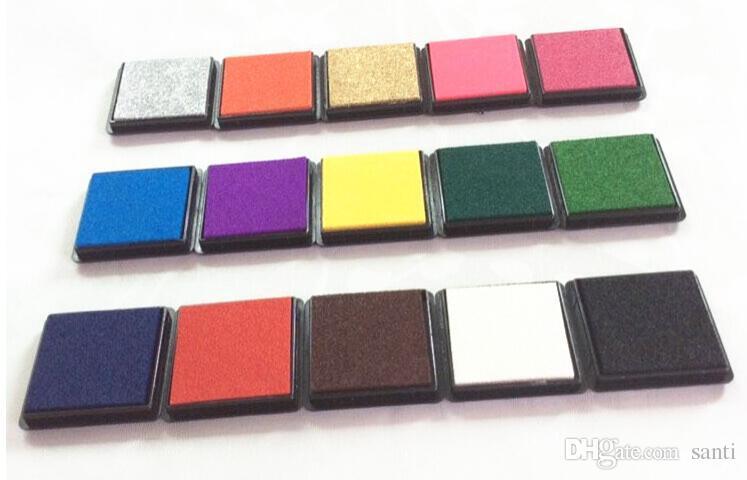 Variedad de 4cm opcional almohadilla de tinta Scrapbooking tinta colorida sello sellado decoración de la plantilla de la huella digital que hace la artesanía de bricolaje