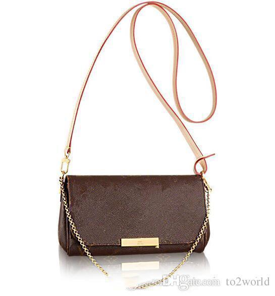 Echtleder 40718 Lieblinge Luxuxhandtasche Mode diagonale Frauentasche Lieblings-Design-Kette Kupplung Lederarmband