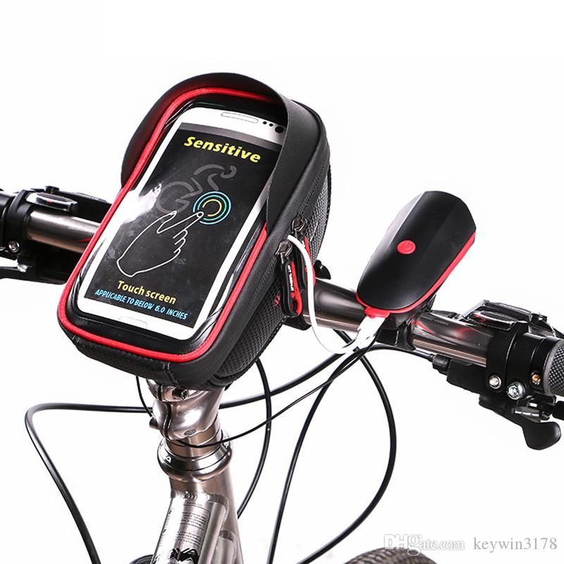 Bicycle Bag Waterproof Sun Visor Touch Screen Bike Handle bar Front Tube Frame Phone Bags Holder For Cellphone Below 6.0 Inches