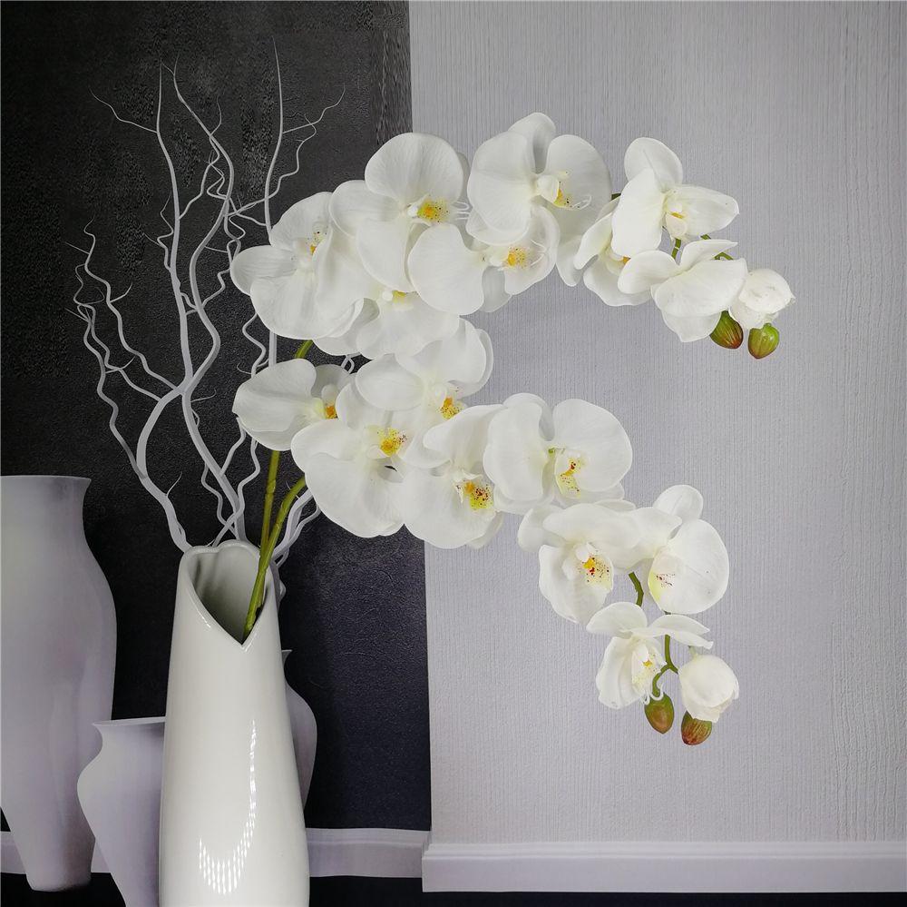 Artificial Orquídea Mariposa Rama Flor Decoración Real Touch Flores Simualtion Plants Boda Home Office Party Decor