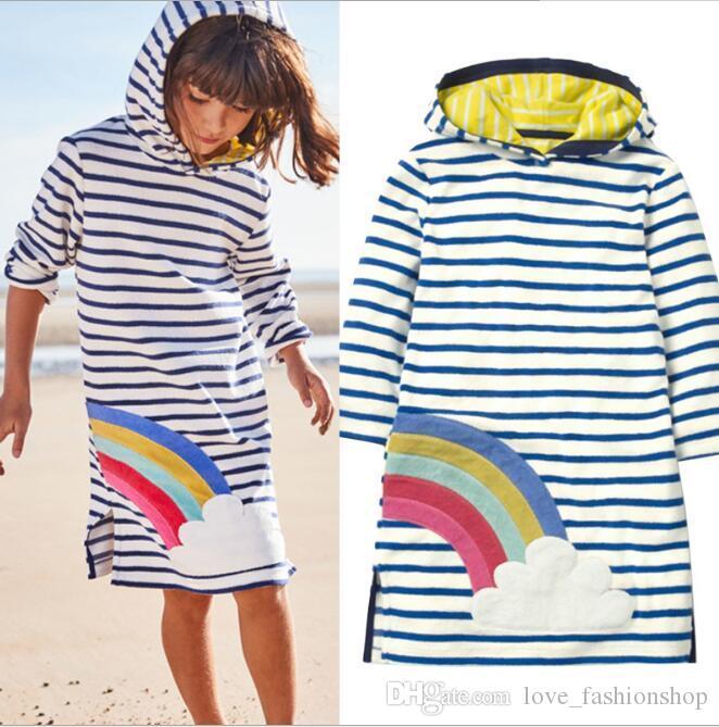 Varejo 5 Cores Meninas Crianças Outono Flor Appliqued Tarja hoodie streetwear Vestidos Crianças Dos Desenhos Animados Outwear Sportwear Casacos Roupas