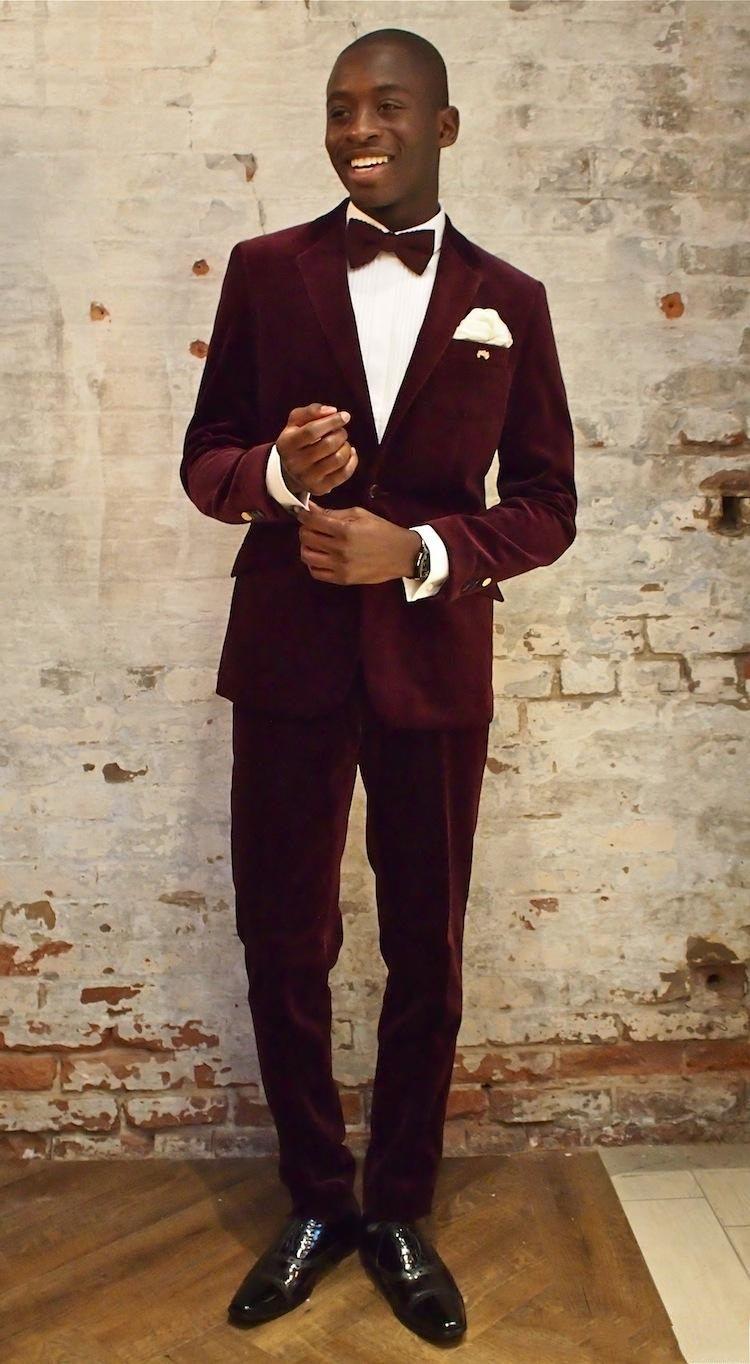 New Arrivals One Button Dark red Velvet Groom Tuxedos Groomsmen Notch Lapel Best Man Blazer Mens Wedding Suits (Jacket+Pants+Tie) D:58
