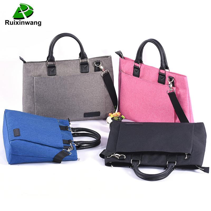 RUIXINGWANG High Quality And Simplicity Business Bags Men Briefcase Laptop Bag File Package Nylon Women Office Handbag Work Bags