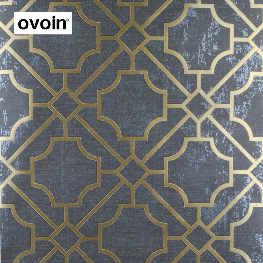 Spellis Modern Dark Grey Geometric Tapete Roll Black Wall Paper