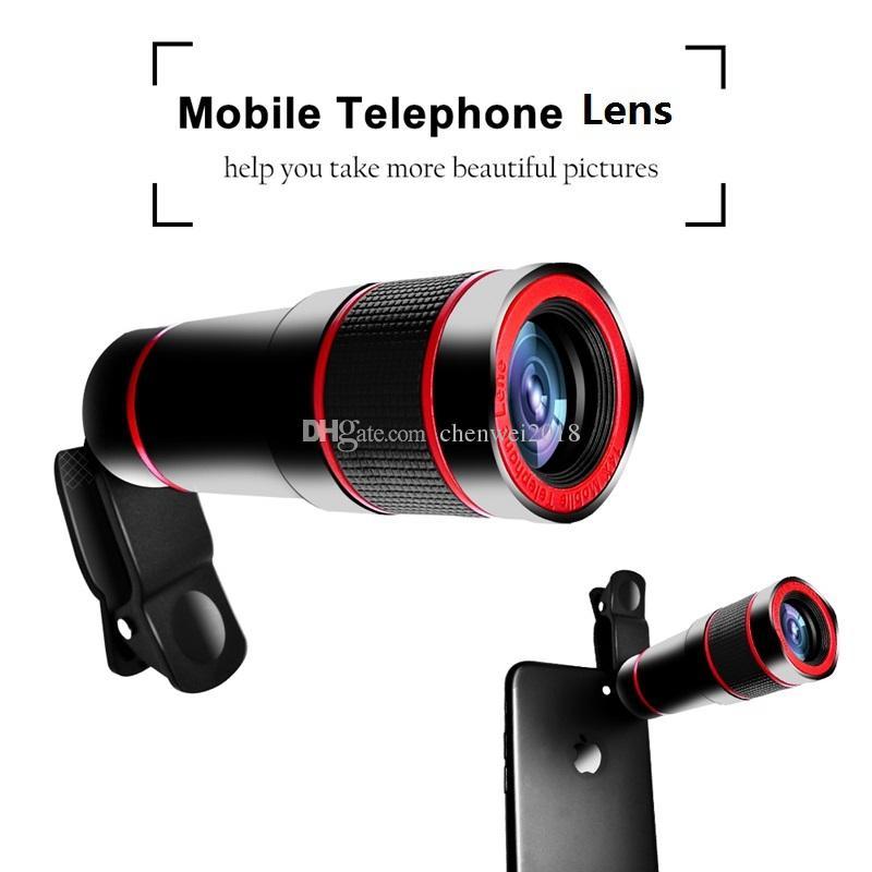 Cep Telefonu Telefoto Objektif 14X Zoom Optik Teleskobu 4K HD Telefon Kamera Lens iPhone Samsung Huawei Xiaomi