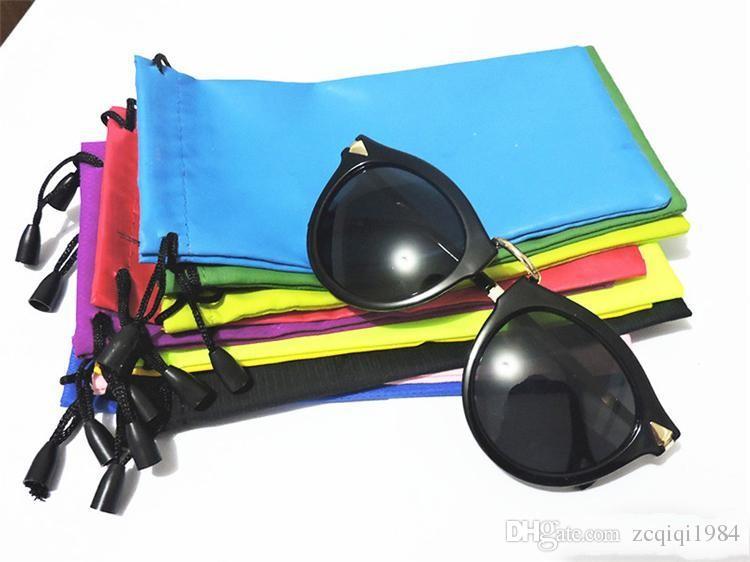 Gafas de sol de plástico durables Estuche a prueba de polvo Gafas Gafas de sol Gafas de sol Gafas de sol Estuche de mezcla de color Accesorios para gafas