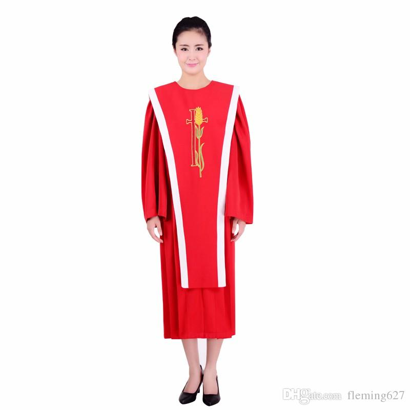 Großhandel Christian Church Chor Robe Kleidung Gedicht Chor Hymne Heilige Kleider Taufe Service Chiesa Cristiana Del Coro La Choral De Legl Von