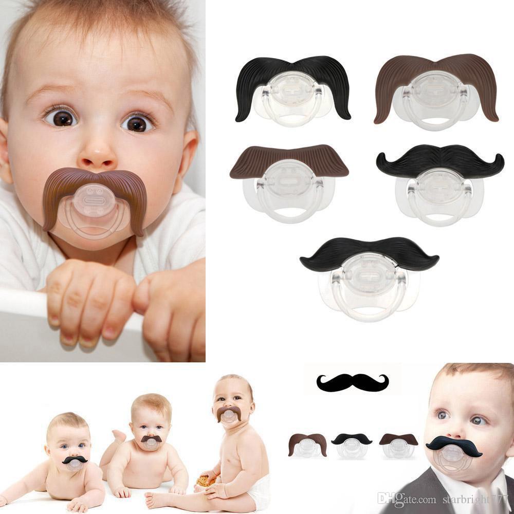 Chupeta Do Bebê Chupeta Engraçada Dentes Bonitos Bigode Baby Boy Menina Chupeta Infantil Ortodôntico Manequim Barba Mamilos Chupetas