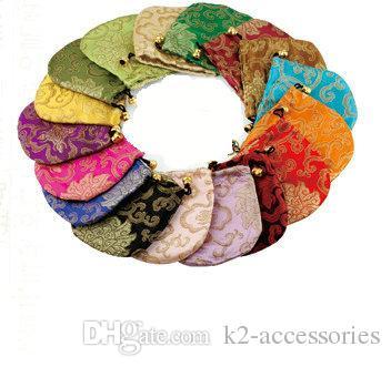 دمشقي الإبداعية لاكي الصينية مجوهرات الحرير حقيبة 11x11cm الحرير القطيفة مجوهرات الحقيبة حقيبة التخزين شخصية الرباط تغليف هدايا