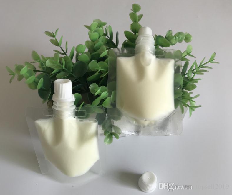 Busta di plastica trasparente da 50 ml con sacchetto superiore con beccuccio e sacchetto per bevande liquido