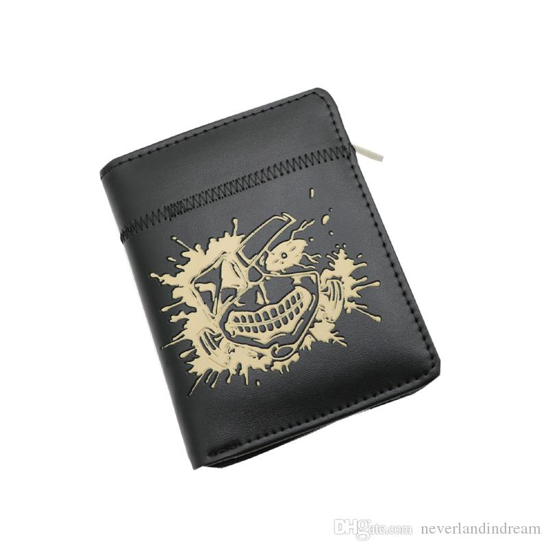 Tokyo Ghoul Anime Kaneki Ken Zipper Purse More than 10 Types Creative Black Short Wallets to Choose for Gift