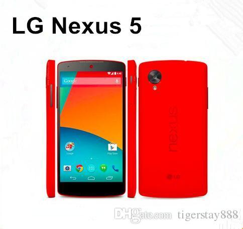 Apressado Originais LG Nexus 5 D820 D821 3g / 4g Gps Wifi NFC Quad Core 2 gb Ram 16 gb Rom 4.95 '' Toque Remodelado Do Telefone Móvel