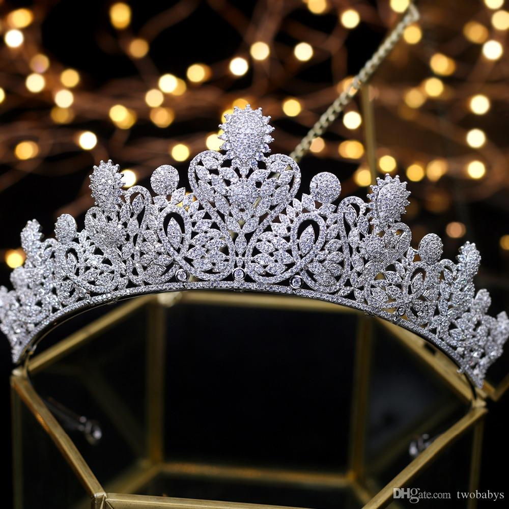 Diadème de mariée noiva Couronnes de mariage Tiara femmes Hairwear couronne de mariage Mariage Accessoires de cheveux