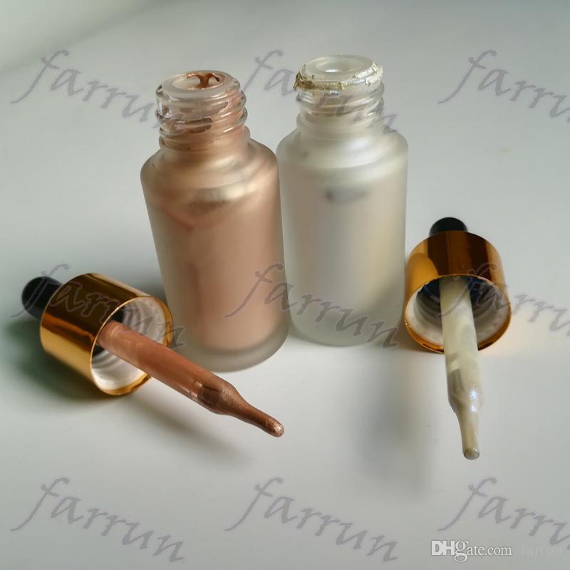 nenhum logotipo destaque líquido highlighters maquiagem 6 cor brilho brilho original original brilho brilho tubo de sucção design garrafa nova chegada
