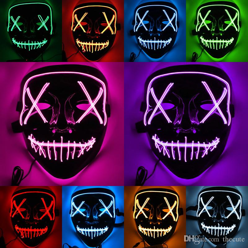 LED Light Mask Up Party Mask The Purge Election Year Party Cosplay Halloween UK