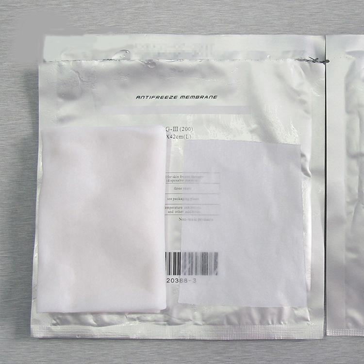 HAUTE QUALITÉ!!! Membrane anti-congélateur pour gel Minceur Machine Fat Fat Fat Membrane Cryo Femme de refroidissement Poids du papier 50pieces