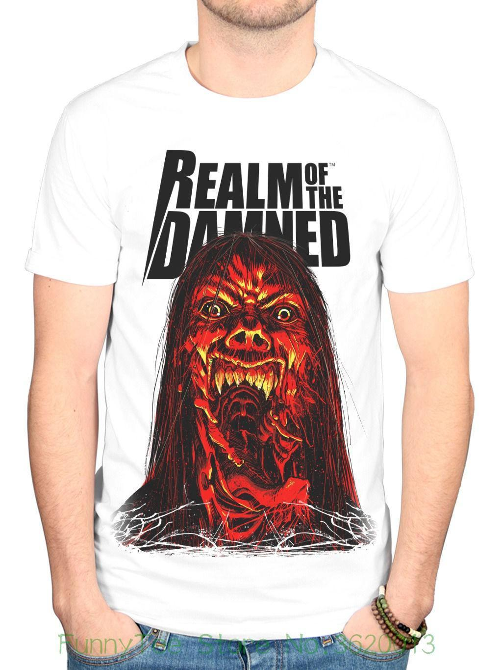 Official T Shirt Black THE DAMNED Punk Rock /'Realm of the Damned/' All Sizes