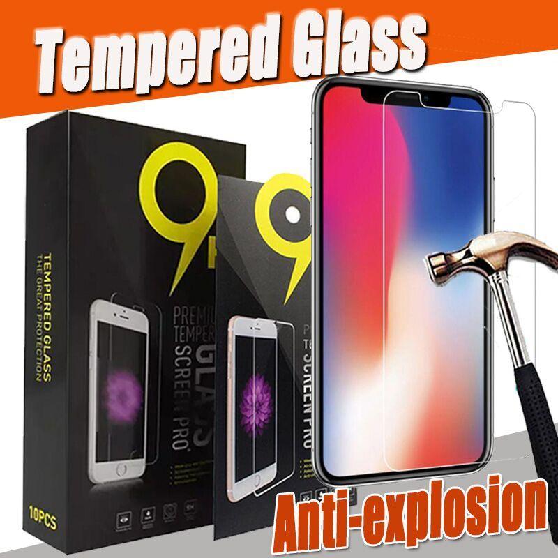 9H Premium trasparente dello schermo in vetro temperato proteggi Pellicola per iPhone 12 Mini 11 Pro Max XS XR X 8 7 6 6S Plus SE 2020 abbia imballaggio