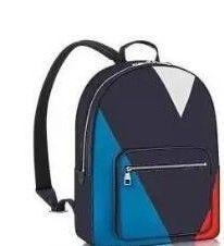 Мужская натуральная кожа Damier Graphite холст классический синий красный и белый цвет рюкзак MEN WOMEN JOSH рюкзак M41530