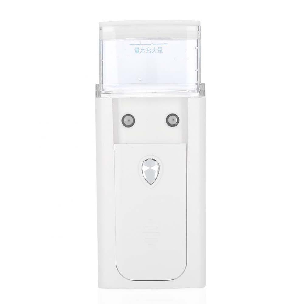 Pulverizador de pulverización Nano Water Mist Spray USB Mini Facial con pulverizador de vapor de dos orificios Mister Sprayer a escala nanométrica