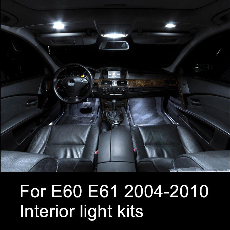 Shinman 17 adet ücretsiz kargo hata ücretsiz LED İç Işık Kiti BMW 5 serisi E60 E61 2004-2010 için araba iç