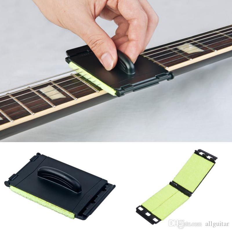 Gitaar snaren cleaner gitaar bas reiniging tool strings scrubber cleaner instrument carrosserie gereedschap