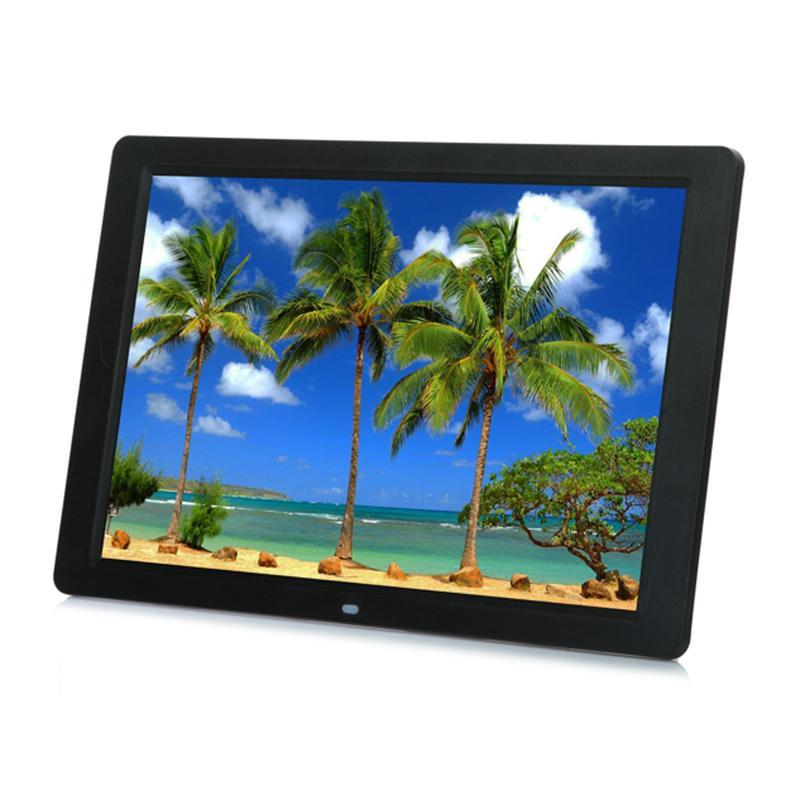 venta al por mayor 15 pulgadas retroiluminación LED HD 1280 * 800 pantalla marco de fotos digital álbum electrónico música Mp3 Video Mp4 Porta Retrato Digital
