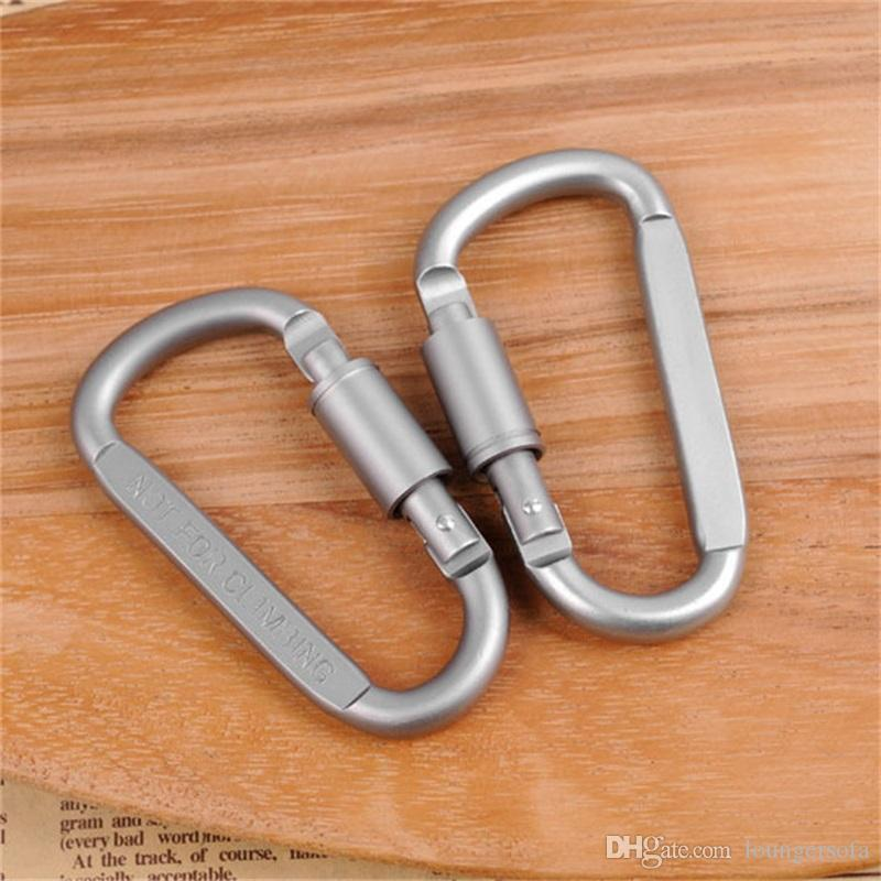 Metal D Shape Keychain Camping Hook Ring Aluminium Alloy Carabiners Portachiavi Buckle For Outdoor Hiking Mountaineering Sports 1 24hj ZZ