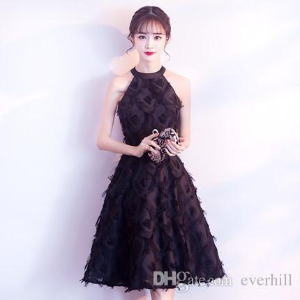Compre Jane Vini 2018 Elegantes Vestidos De Coctel Negro Corto Vestidos De Baile Borgoña Blanco Halter Encaje Una Línea De Vestidos De Noche Vestido