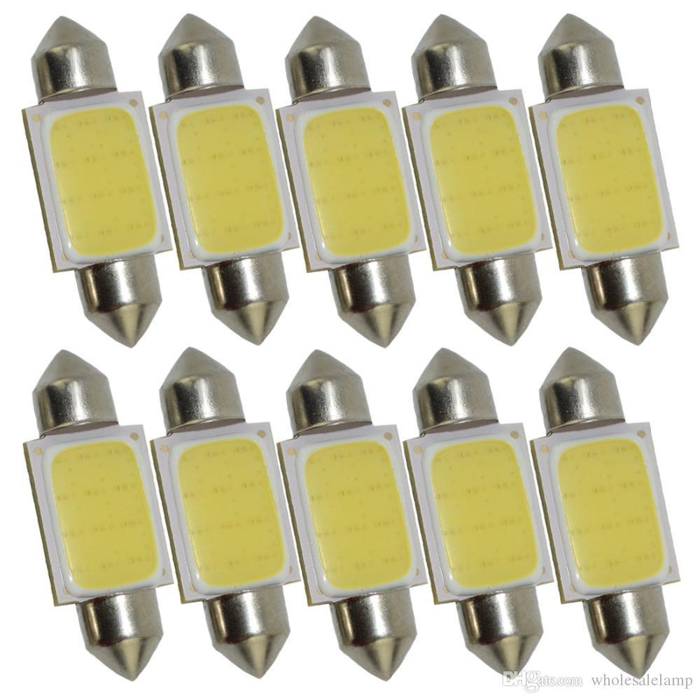 Festoon 31MM-41MM C5W LED COB 12 Chips SMD Bulbs Car Festoon Light Auto Interior Dome Light Lamps 12V White