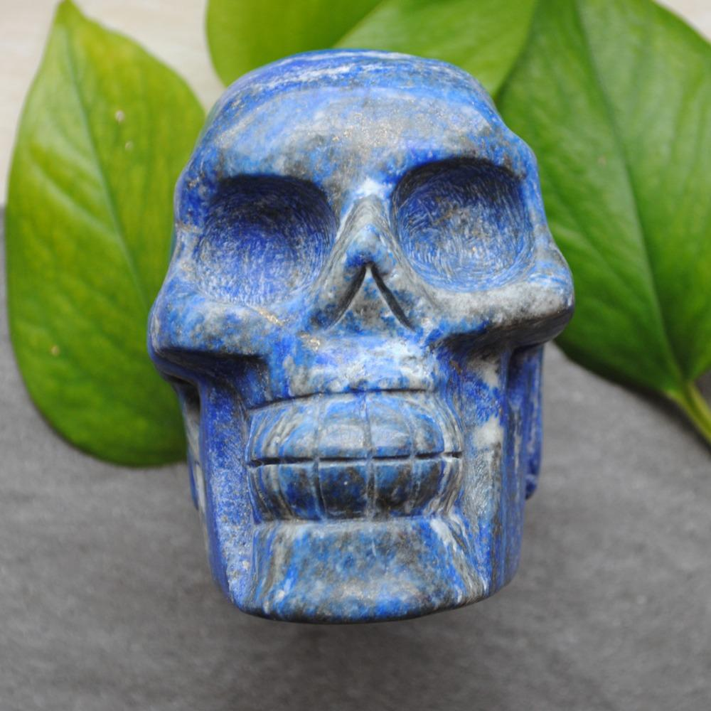 98x100x72mm Esculpido Natural Lapis Lazuli Pedra Crânio Artesanato Cura presente requintado ou decoração de casa