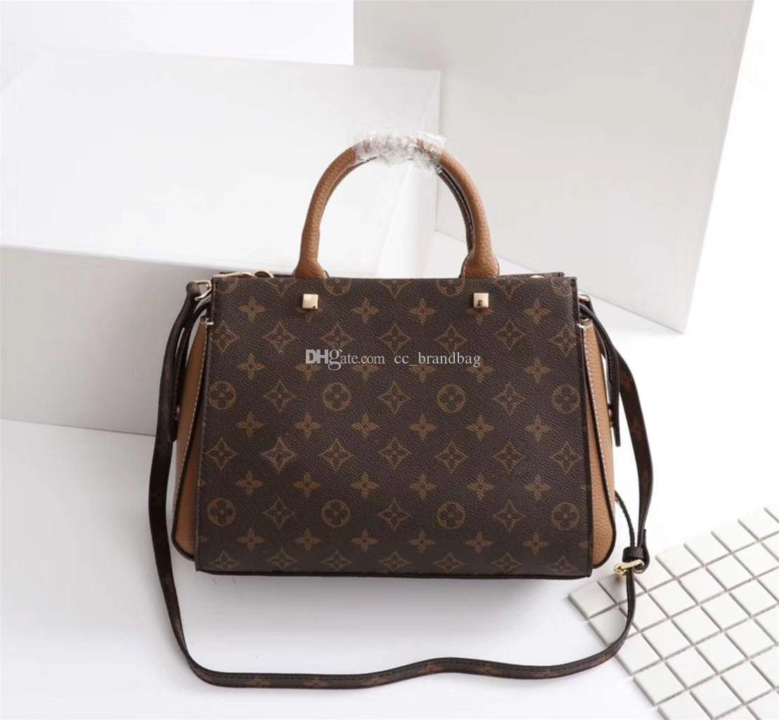 Pernelle Tote Bag Classic Women Top- handle Satchel Handbag Ladies Leather Work Tote Briefcase Stiff Shoulder Bag Girls Messenger Crossbody