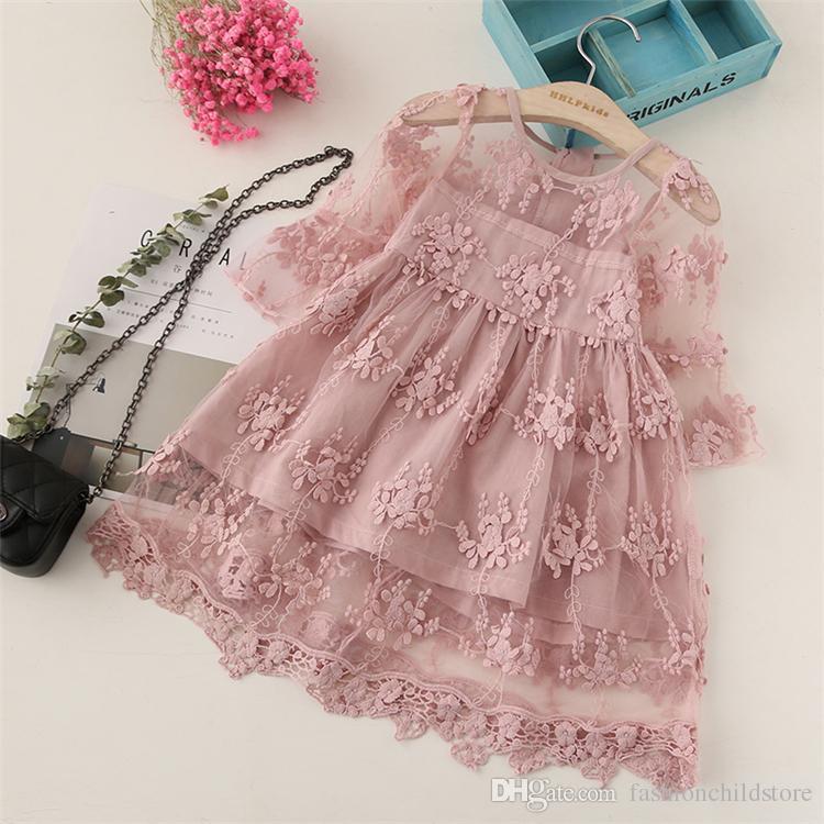 Sommer Mädchen Kleidung Kinder Kleider Für Mädchen Spitze Blumenkleid Baby Mädchen Party Hochzeit Kleid Kinder Mädchen Prinzessin Kleid