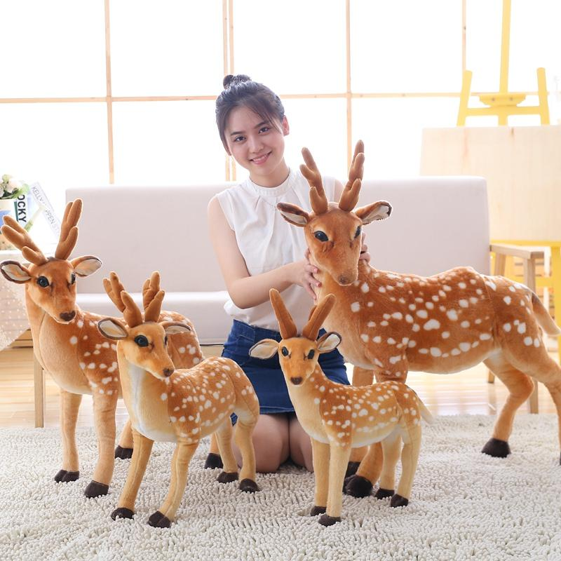 Los niños de la simulación rellenaron los juguetes de los juguetes de los ciervos de Sika de los animales de la felpa Los niños de Playmate Regalo de cumpleaños de los niños Decoración casera envío libre