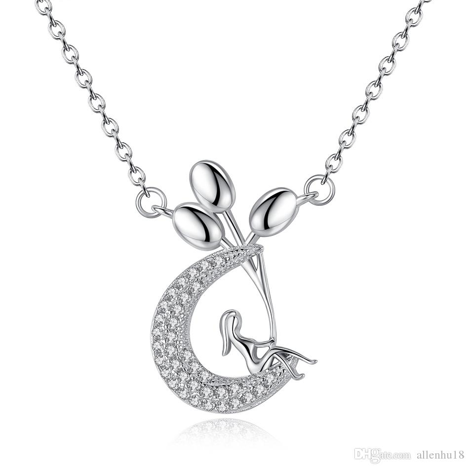 New Sterling Silver Heart Link Chain Necklace VALENTINE'S DAY