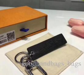 جديد أول موضة حقيقية مربع أسود أحمر سلسلة المفاتيح علامة تبويب حقيبة سحر مفتاح حامل أحمر + مربع للرجل والنساء أعلى جودة # 5188