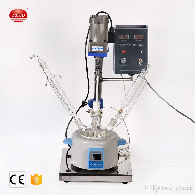 Reator de vidro ZZKD F-2L para uma variedade de operações de processo Dissolução do produto de sólidos Instrumento de laboratório de aço inoxidável