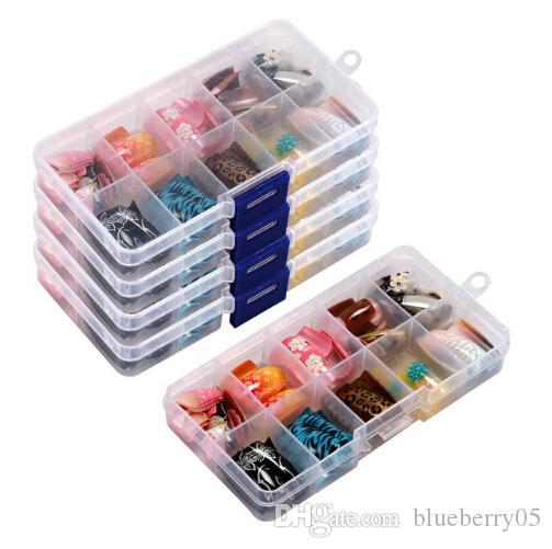 100 шт 10 случайного цвет французских Ложных ногтей Акрилового гель Nail Art Советы Половина с коробкой Салон 1 Set Kit