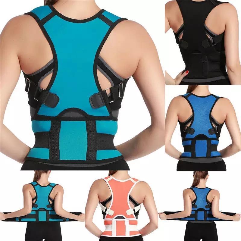 Posture Corrector Back Brace & Shoulder Support Trainer for Pain Relief Fully Adjustable Clavicle Belt Straightener